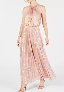 MSK Women Metallic gold and blush gown